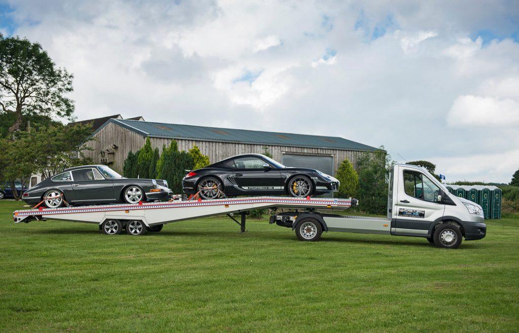 Mini Artic: Double Car Trailer: Two Car Trailer: BE-Trans: FITZEL: FIT-ZEL: Algema: Wabtec Developments: Car Transporter: Porsche: Ford: Transit