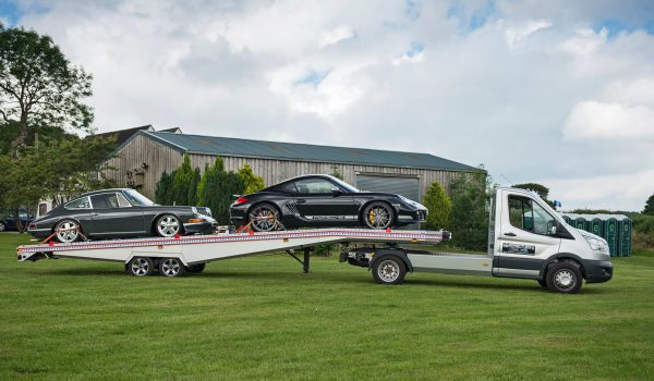 Mini Artic: Double Car Trailer: Two Car Trailer: BE-Trans: FITZEL: FIT-ZEL: Algema: Wabtec Developments: Car Transporter: Porsche: Ford: Transit
